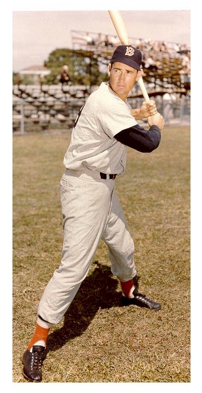 Ted Williams in training camp for the Boston Red Sox